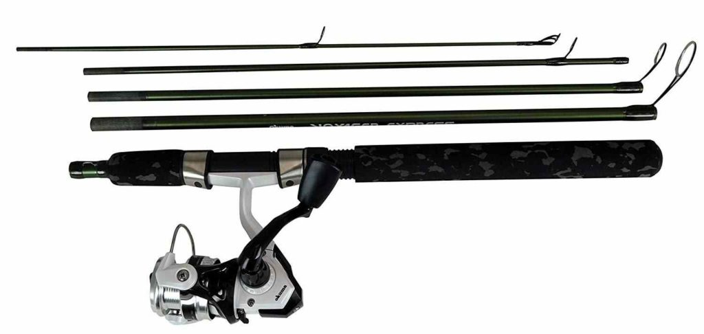 OKUMA Fishing Tackle Voyager Express Travel Kit Spinning Combo