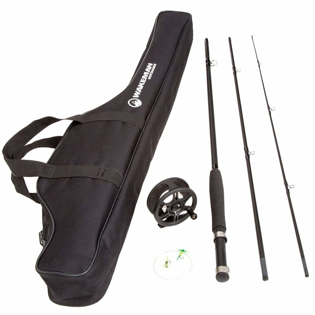 Wakeman Charter Series Fly Fishing Combo with Carry Bag